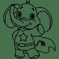 Gambar Mewarnai Gajah Lucu Coloring Pictures Pinterest