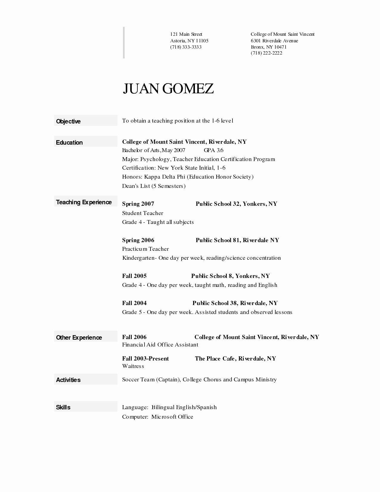 Sample resume for preschool teacher assistant new 9 10