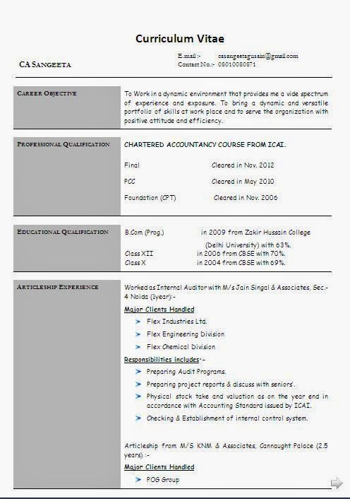 accounting resume sample Sample Template Example ofExcellent - accounting resume objective samples
