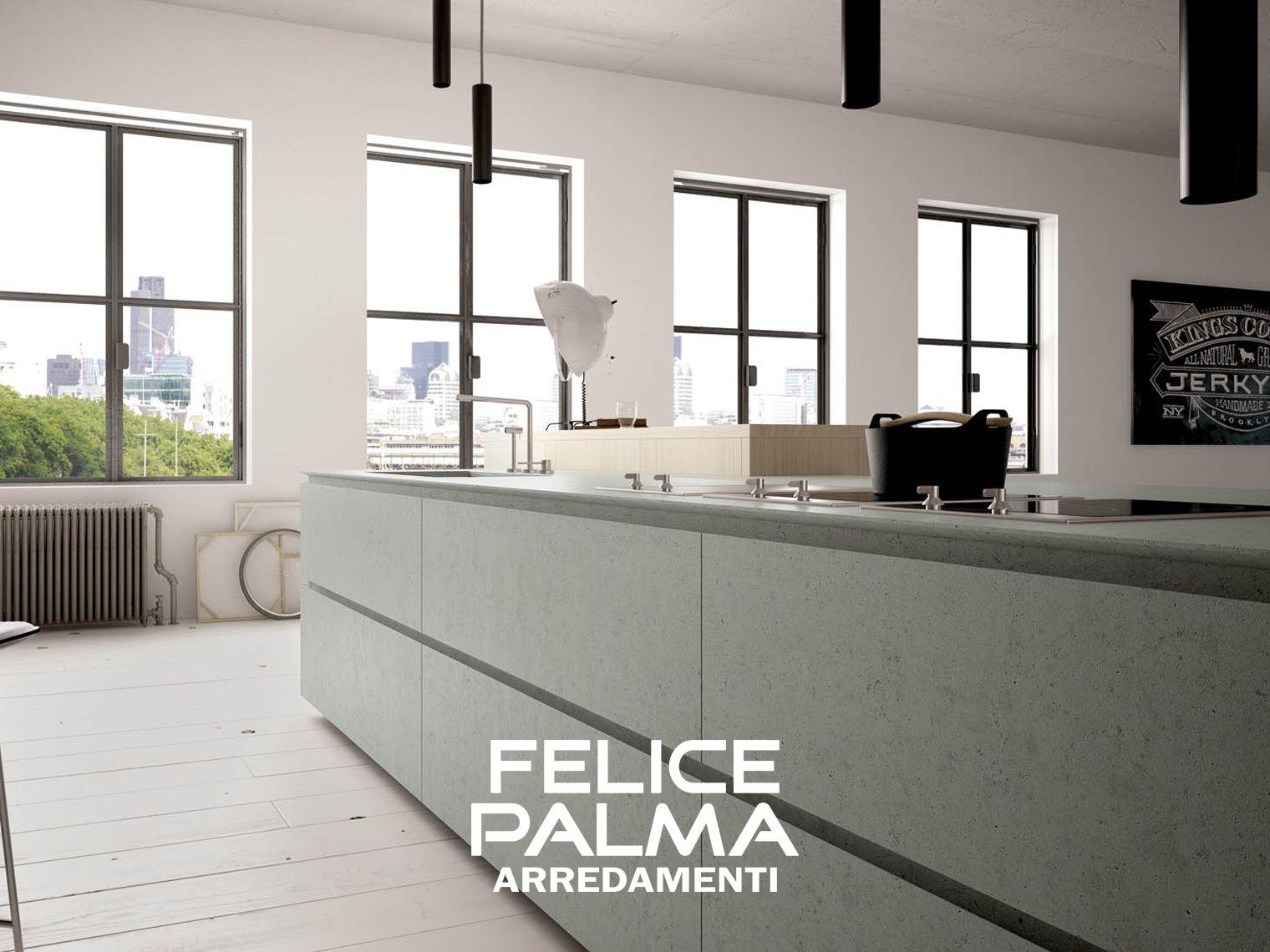 Cucina cemento ante legno moderno contemporaneo for Felice palma arredamenti