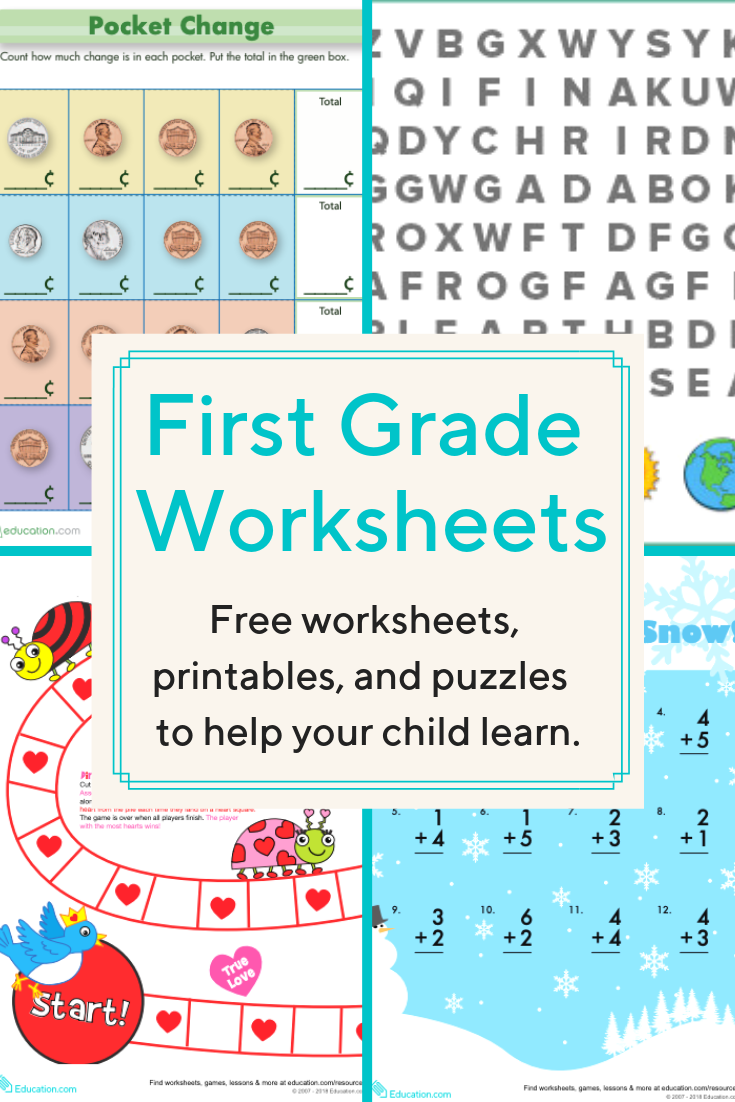First Grade Worksheets   Download free printable worksheets for reading [ 1102 x 735 Pixel ]