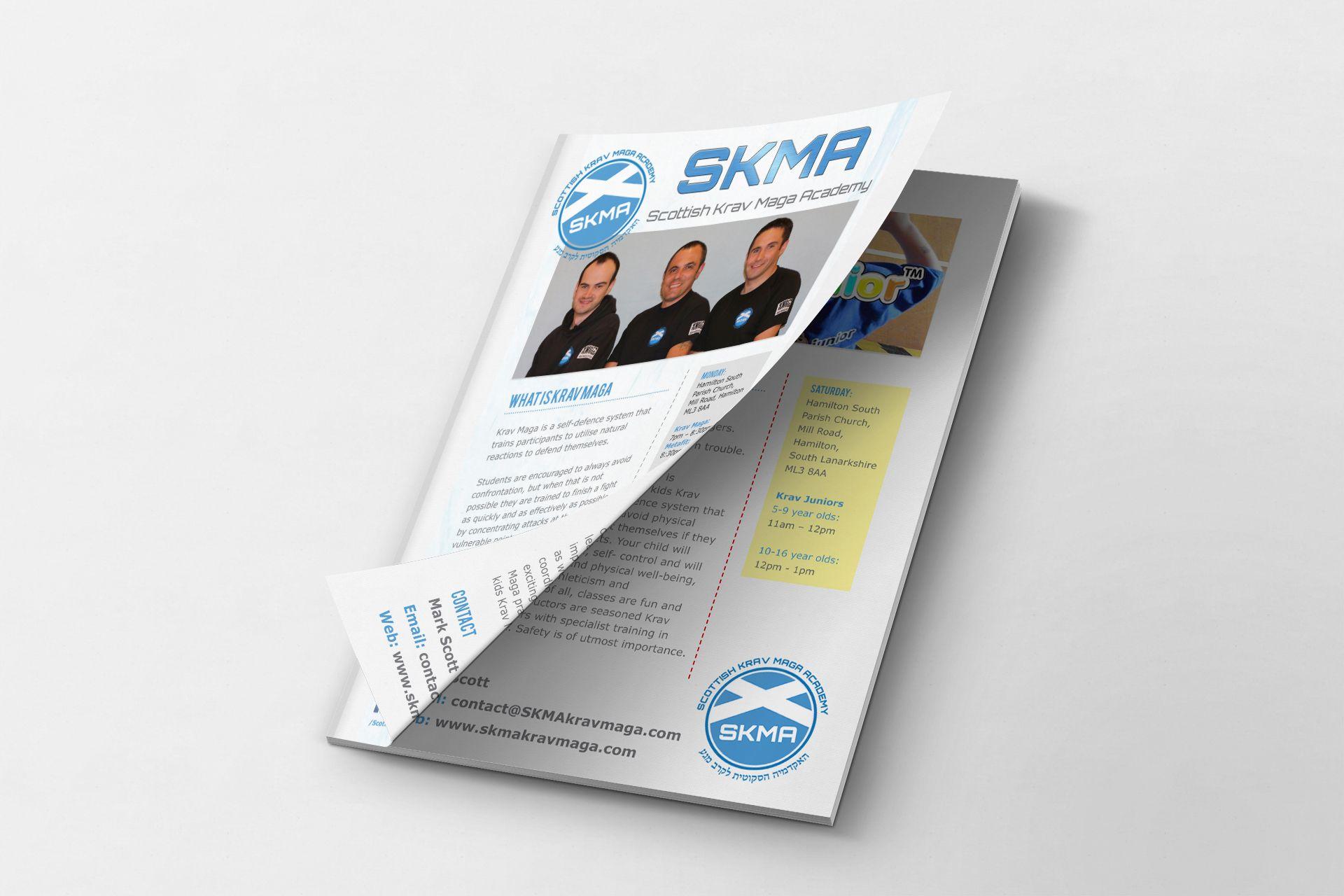 Some Design Processes And Advertising For Skma Kravmaga Branding Including Banner Stands Flyers Website Outdoor Branding Process Branding Krav Maga