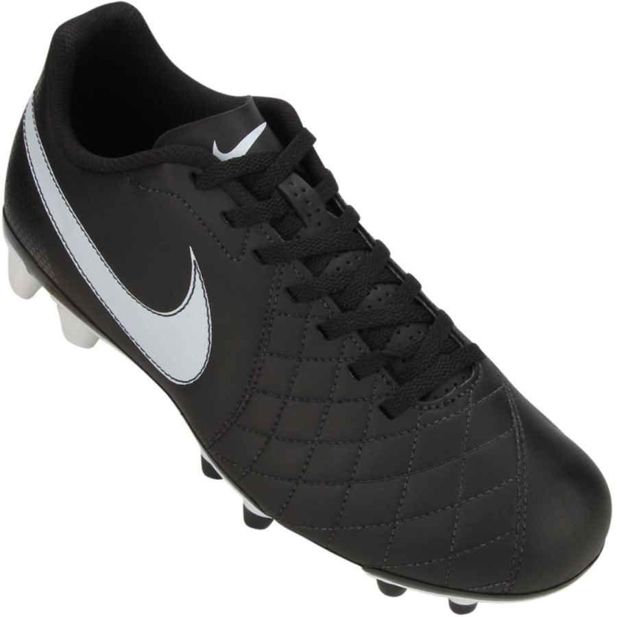 d01f9df8760d2 Chuteira Nike Flare FG Campo Preta   Branca