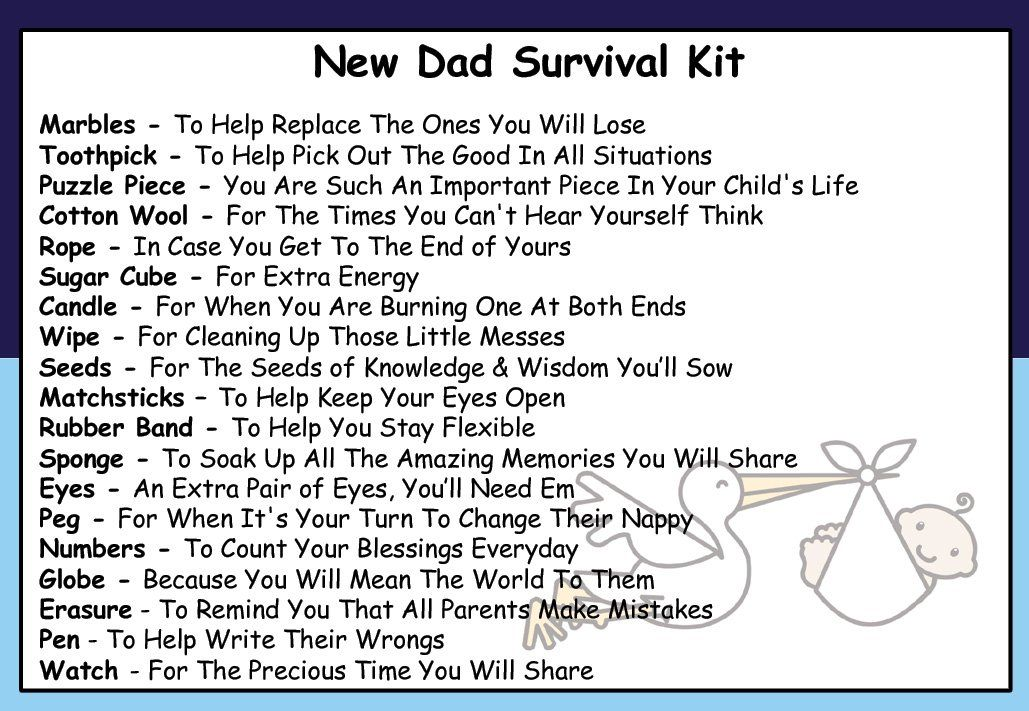 PARENTS To Be fun Survival Kit fun novelty Gift *
