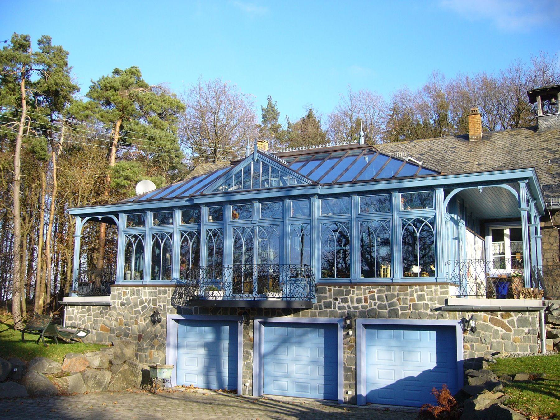 Englischer Wintergarten ~ Großzügiger englischer wintergarten mit vordächern