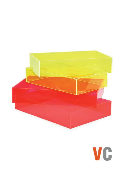 NEON POP  Plexi Trays  Multiple Sizes Available  Material