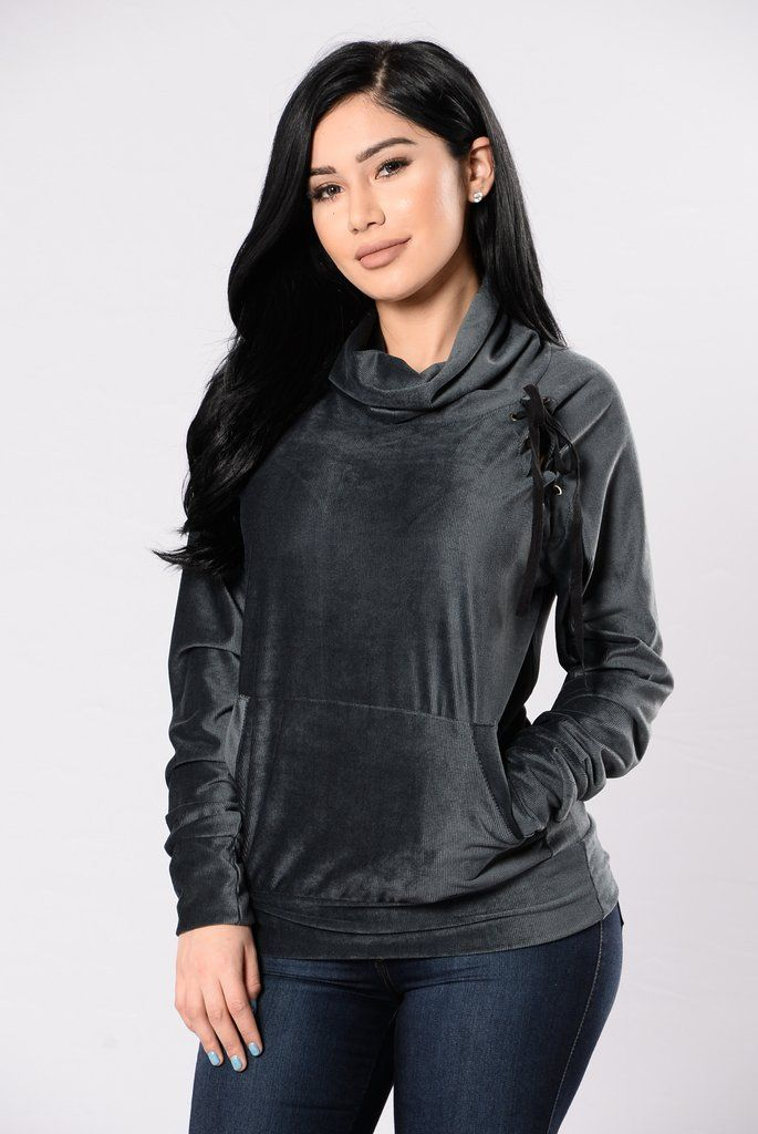 Crazy About You Sweater – Charcoal