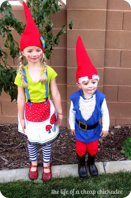 The Life of a Cheap Chickadee: Mr. & Mrs. Gnome Halloween Costume and How to...