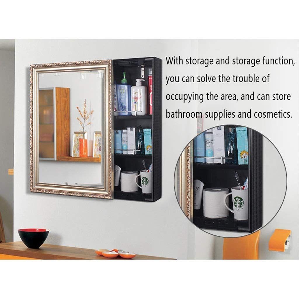 Makeup Mirror Wallmounted Toilet Storage Mirror Box A Bathroom Cabinet Mirror Locker Color 2 Size 6080cm Toilet Storage Storage Mirror Bathroom Supplies