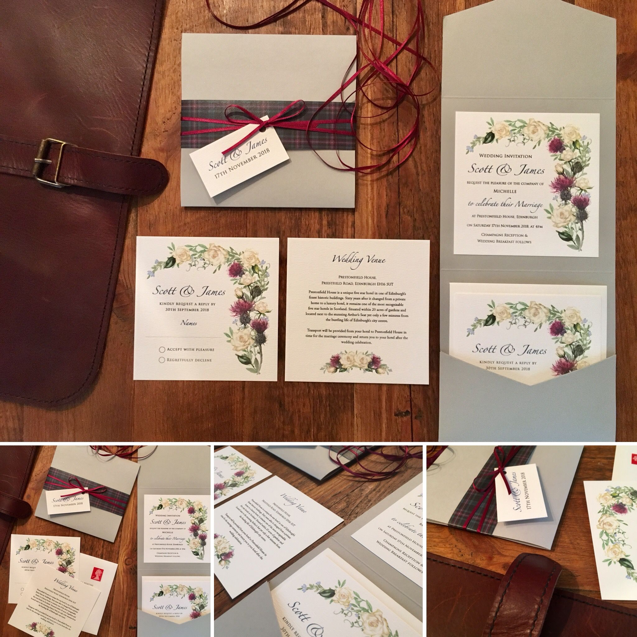 Bespoke designs for your wedding invitations Beautiful