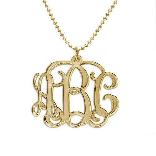 18k gold plated monogrammed pendant initials my birthday and i want 18k gold plated monogram necklace mynamenecklace aloadofball Choice Image