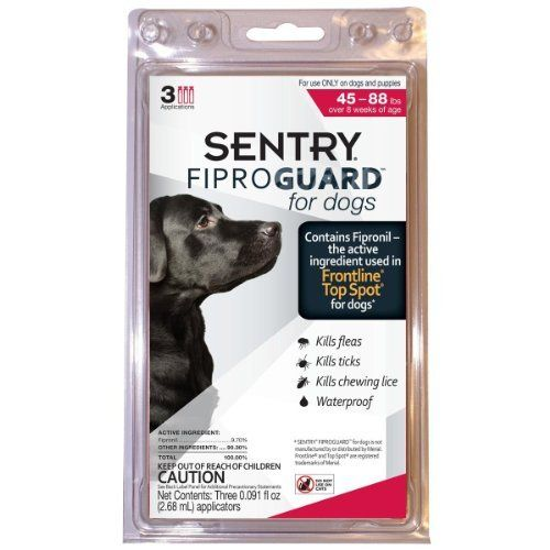 Sentry Flea And Tick Drops 45-88 Lbs. ** Check out this great product. (This is an affiliate link and I receive a commission for the sales)
