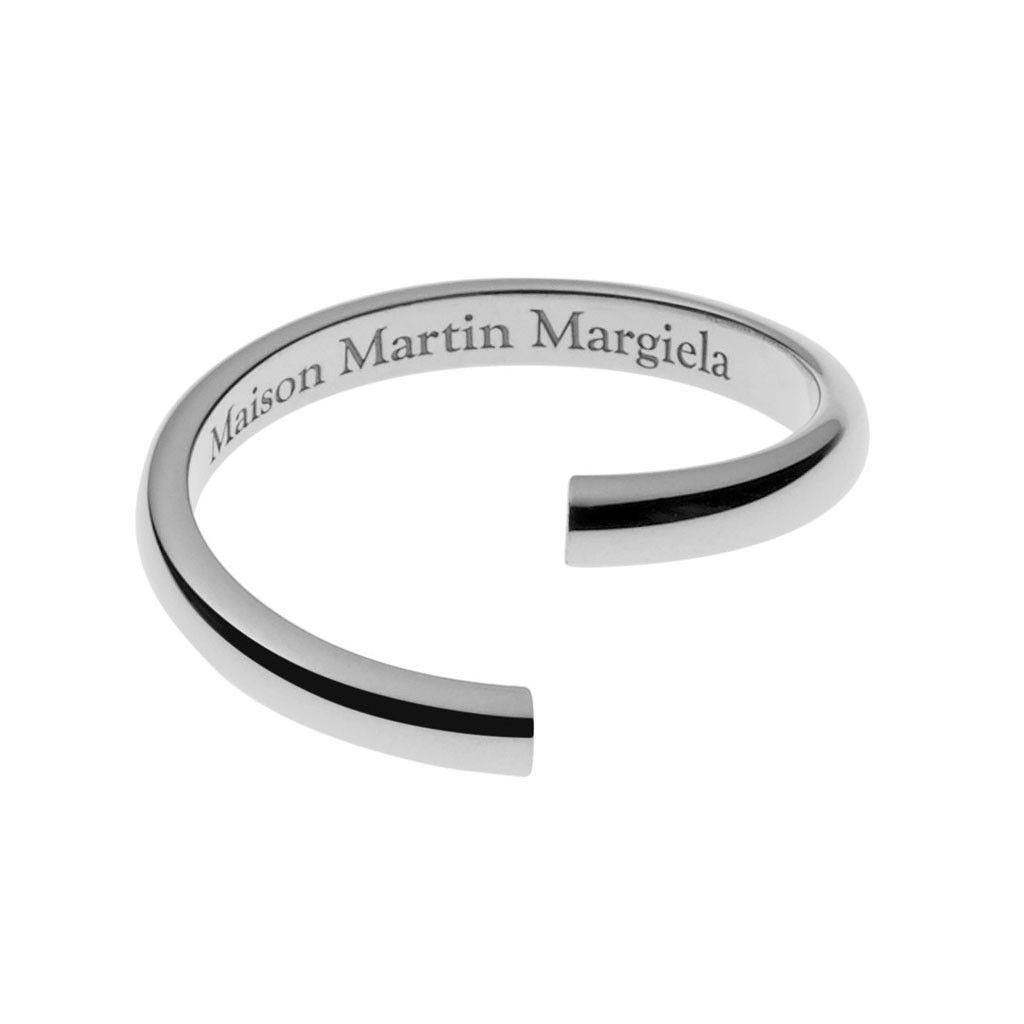White Gold Twisted Ring Maison Martin Margiela ZDRUaJg