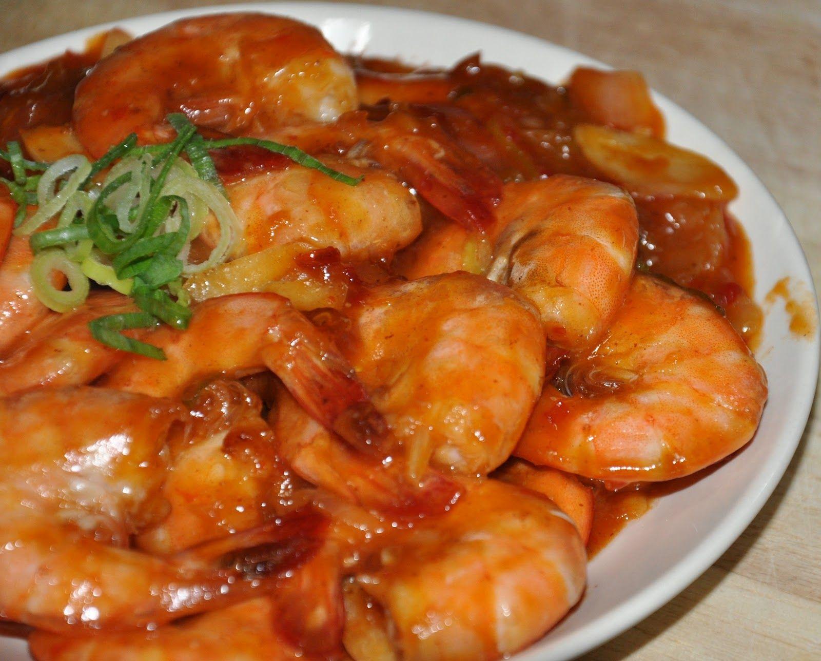 Resep Cara Membuat Udang Saus Asam Manis Spesial Resep Udang Resep Makanan Resep Masakan