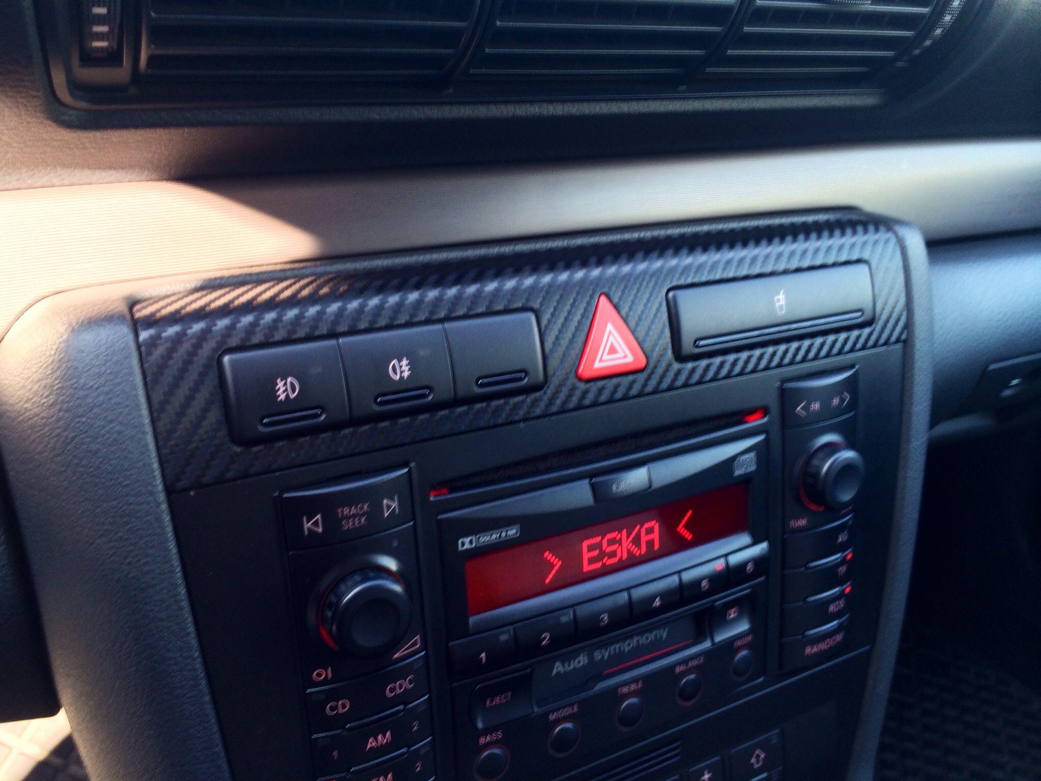 Folia Carbon 3m Audi A4 B5 Audi A4 Audi Car Radio