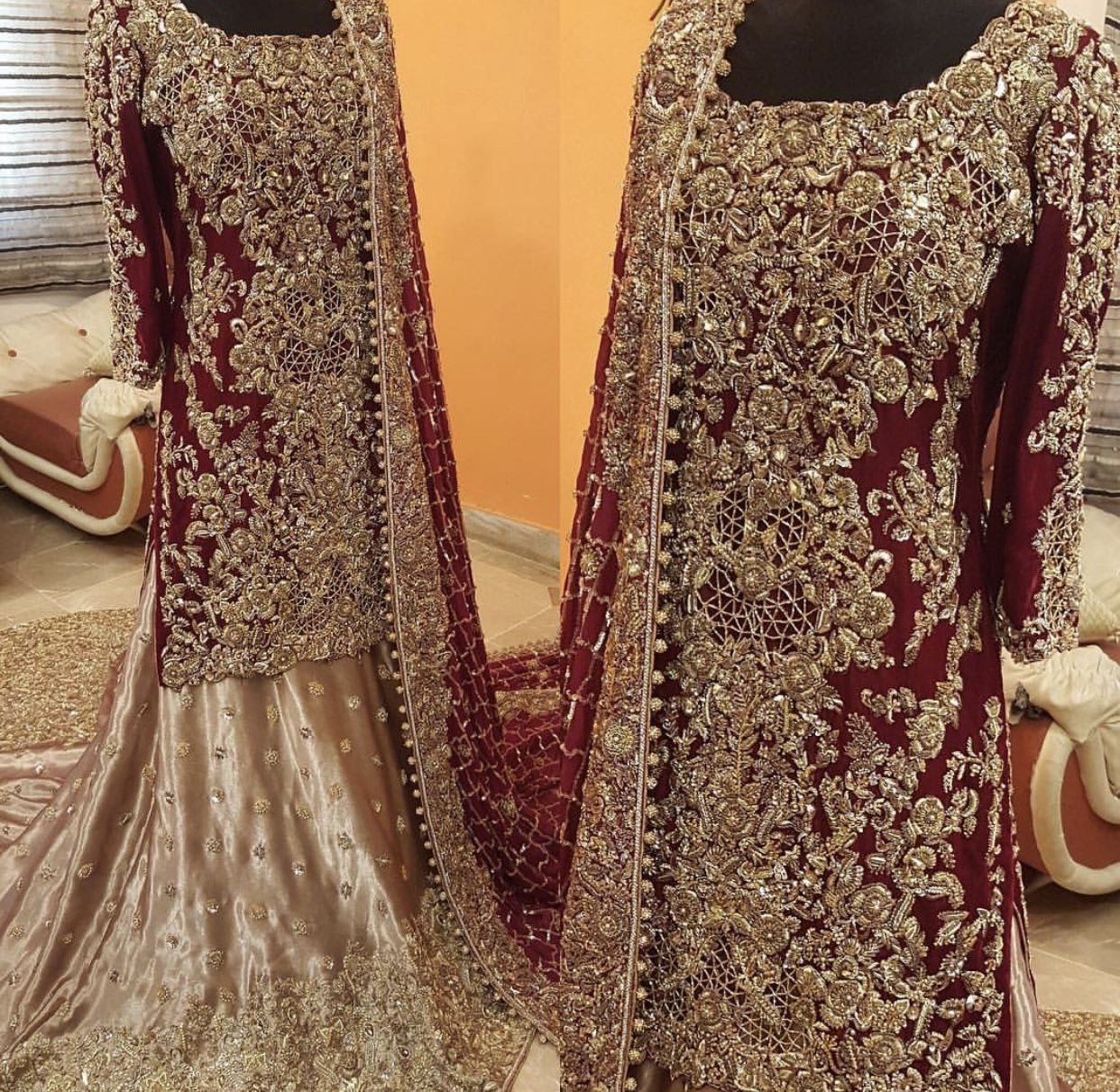 Whatsapp 00923352756622 To Plaxe Your Order For This Elegant Bridal Www Instagram Com Designer Red Bridal Dress Pakistani Bridal Dresses Pakistani Bridal Wear