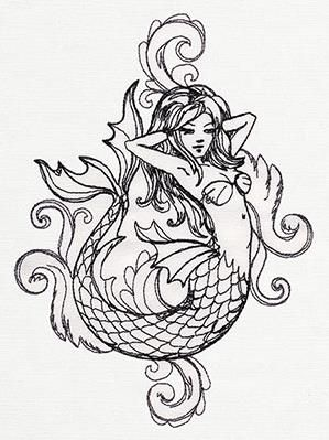 Toile Noir - Mermaid_image
