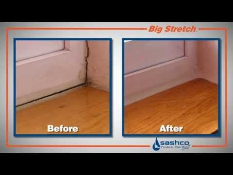 How To Seal Windows And Doors Using Big Stretch Youtube Home Improvement Home Large Bathtubs