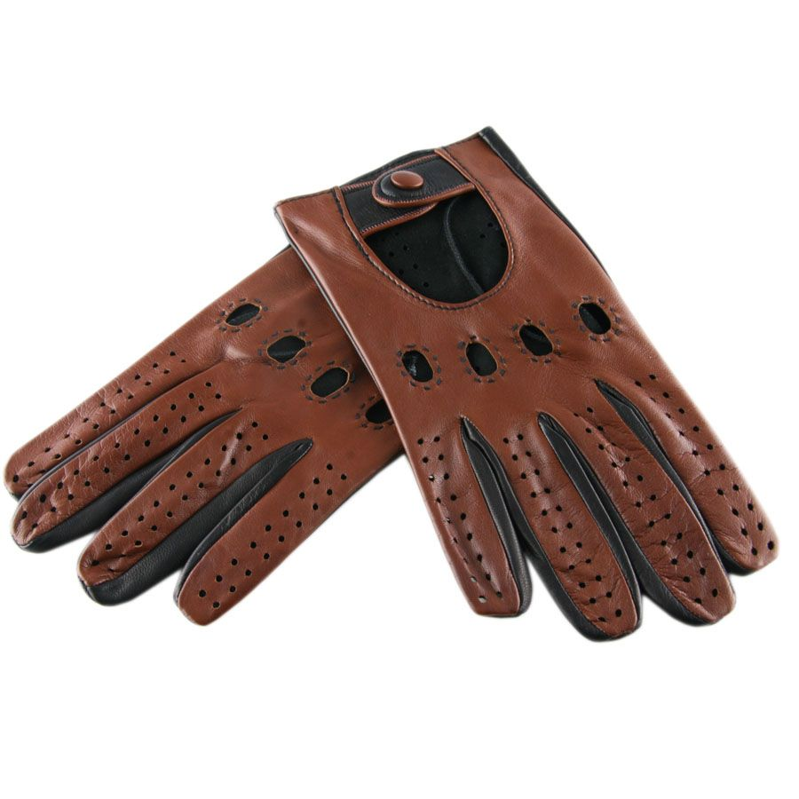 Red leather driving gloves mens - Mens Gloves Buy Driving Gloves Men S Brown And Black Leather Driving Gloves