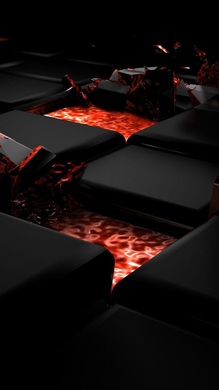 3d Black And Red Iphone Wallpaper: Red And Black 3D Creative Design IPhone 7 Wallpapers