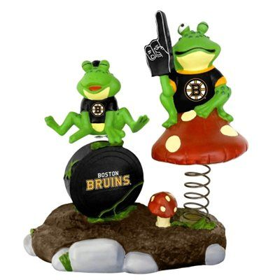 Boston Bruins Springy Frog Garden Figurine