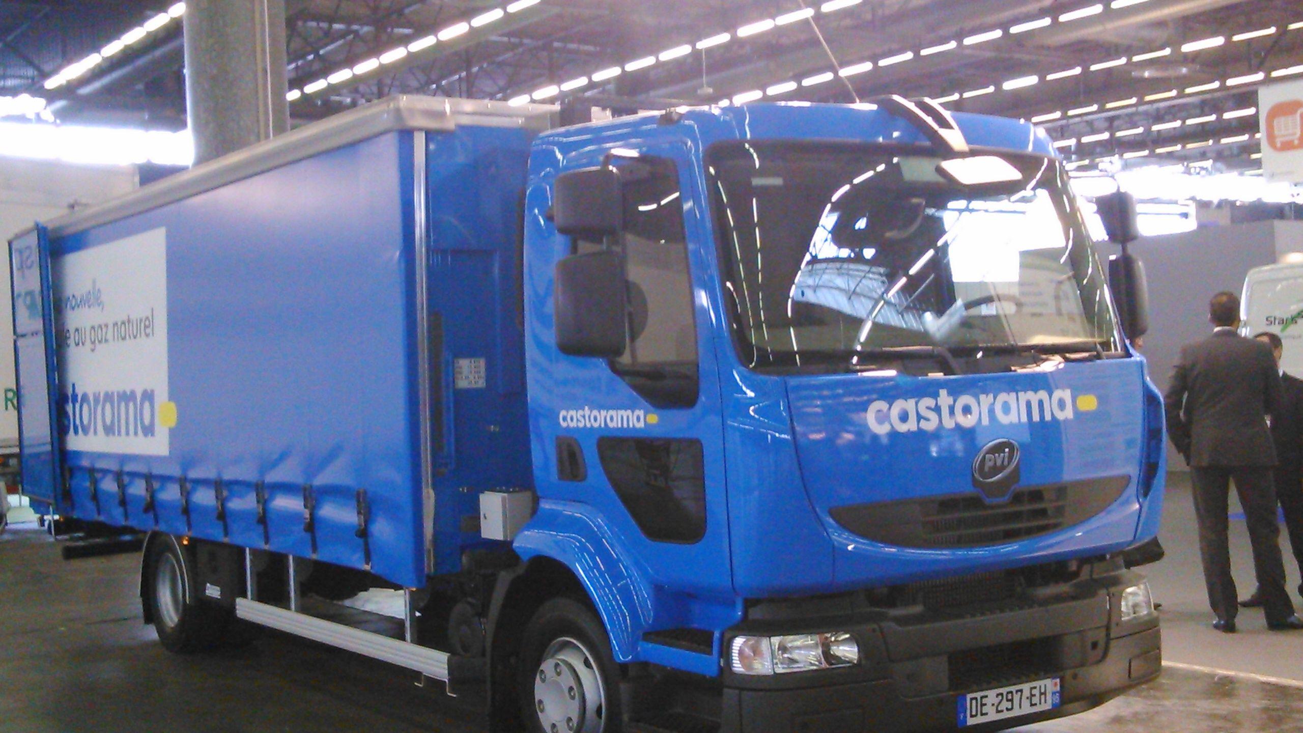 Camion Au Gnv Castorama Camion Logistique Urbain