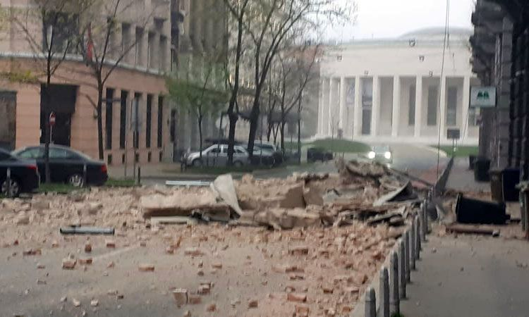 Series Of Three Earthquakes Strike Zagreb This Morning The Dubrovnik Times In 2020 Croatia Zagreb Earthquake