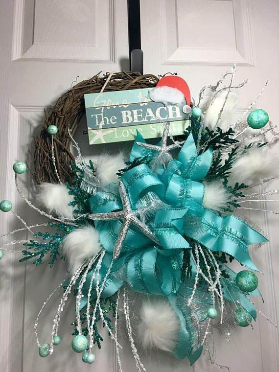 the shelley coastal christmas wreath beach christmas wreath - Beach Christmas Wreath
