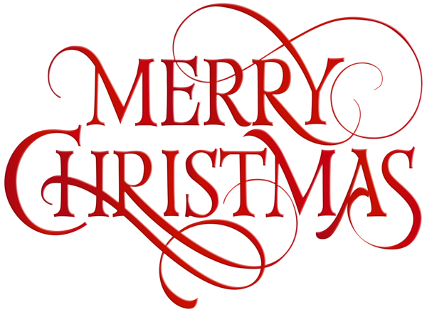 Merry Christmas Red Transparent PNG Clip Art Merry