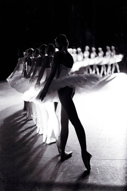 Black and White Ballerina Photo