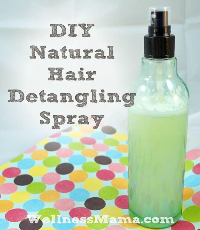Natural Hair Detangling Spray Chemical Free Diy Recipe Natural Hair Diy Homemade Hair Products Hair Detangler