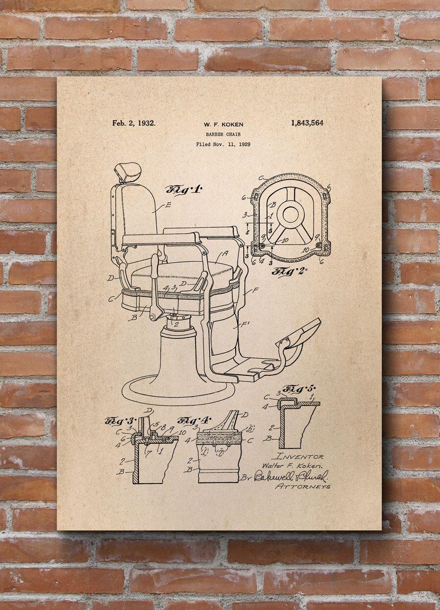 Barber chair patent print barber chair patent barber