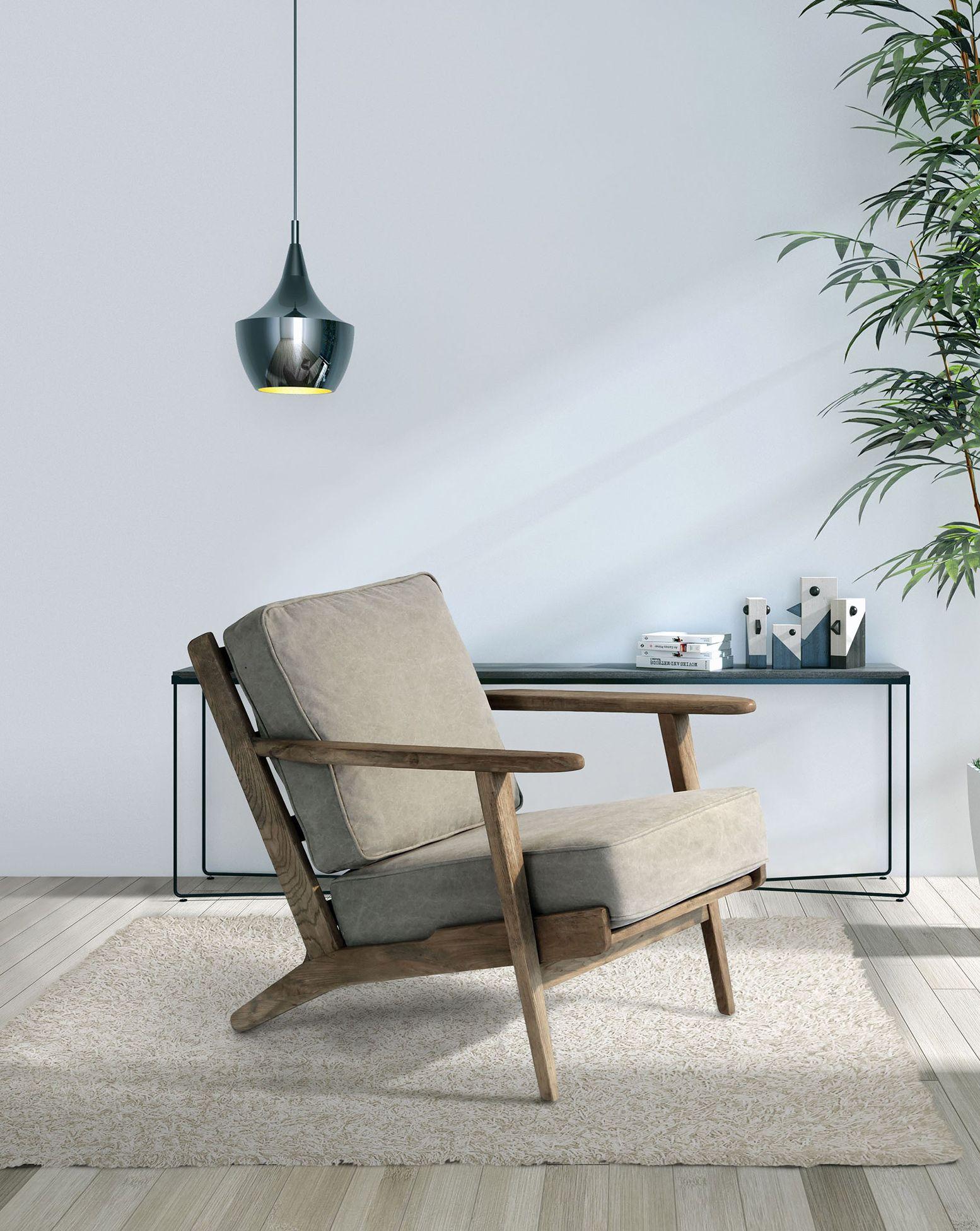 Der Retro Komfort Sessel aus Eiche | Sessel | Sessel, Samt sessel ...