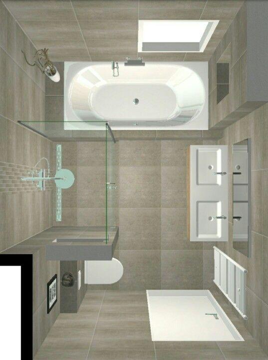 Bano Con Doble Lavabo Y Tina Badezimmer Umbau Kleine Badezimmer Badezimmer Gestalten