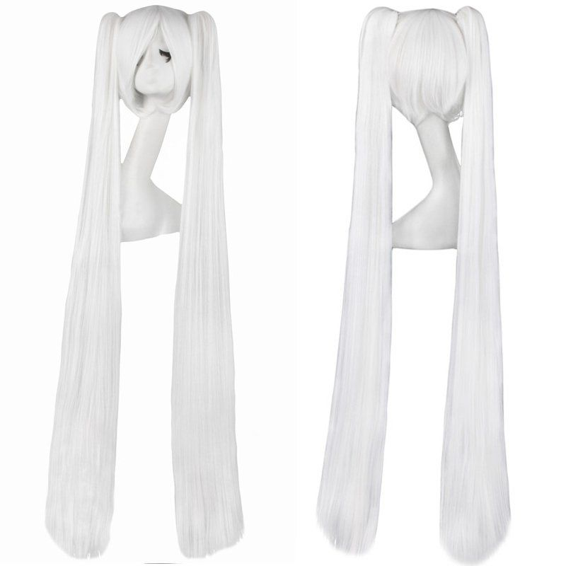 Cosplay Extra Long White Anime Costume Accessory Female Halloween Cosplay Wigs Blonde Wigs Cosplay Wigs