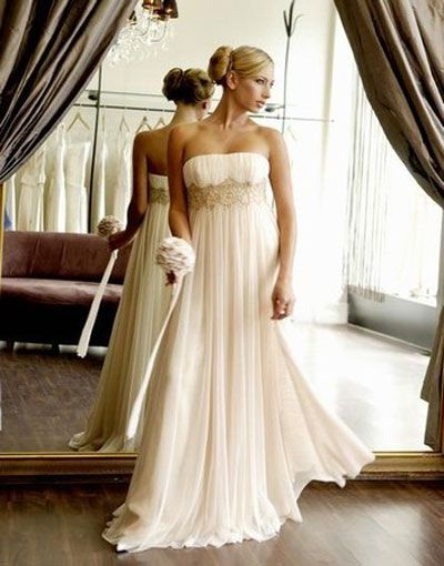 empire cut wedding dress