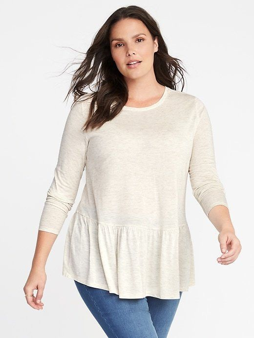 bf35f659832c7 Old Navy Relaxed Plus-Size Peplum-Hem Sparkle Top