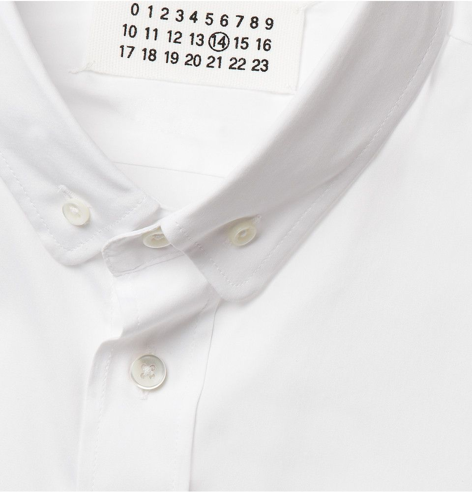 Maison Martin MargielaSlim-Fit Stretch Cotton-Blend Shirt|MR PORTER