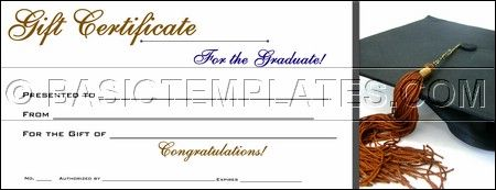 graduation gift certificate template free - graduation gift certificate gift ideas pinterest