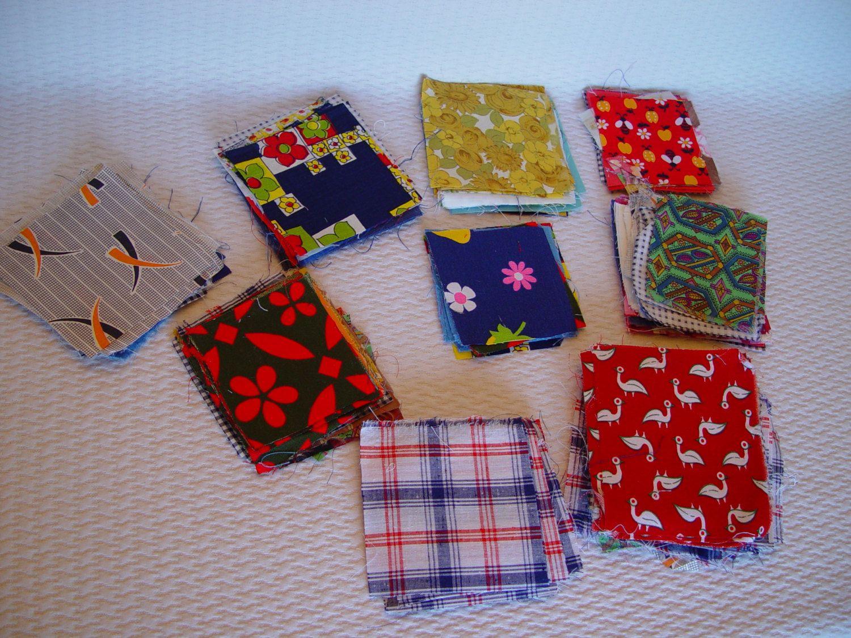 Vintage Pre-Cut Quilting Squares, Vintage Fabrics, Quilting Supplies, Sewing Supplies by GandTVintage on Etsy