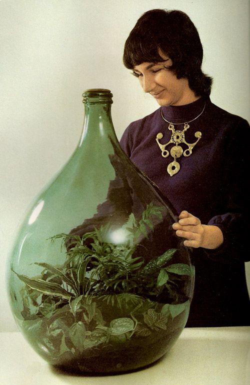 My Grandmother Did A Terrarium In A Big Glass Water Jug That I