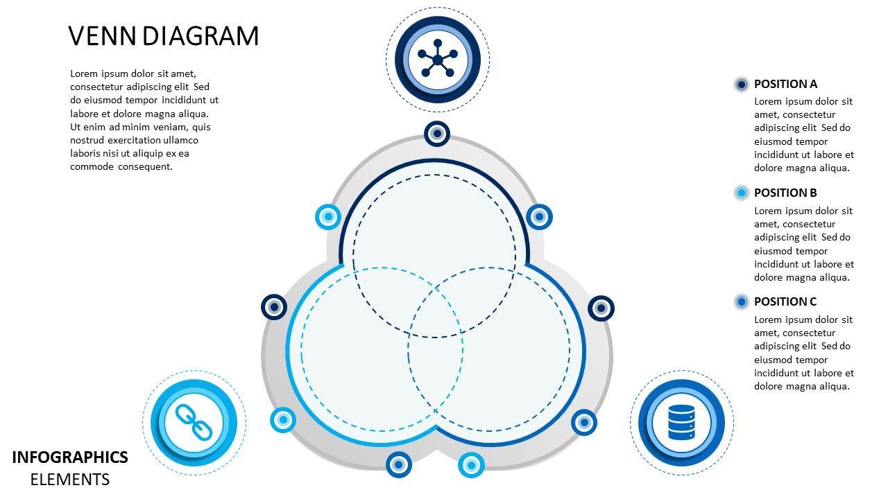 Venn Diagram Material Design Powerpoint Diagram Slidemodel Venn Diagram Template Powerpoint Design Powerpoint Slide Designs