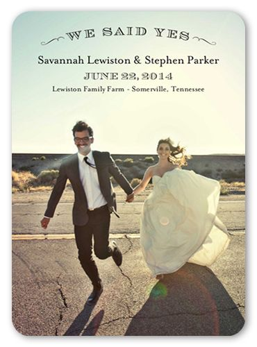 Perfect Portrait 5x7 Wedding Announcement Cards Products
