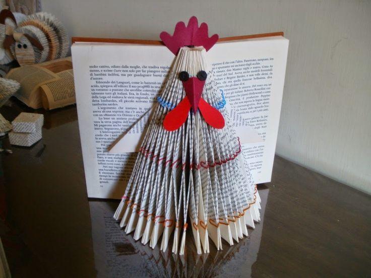 image result for book sculpture chicken jeanne pinterest p ques livre et pliage. Black Bedroom Furniture Sets. Home Design Ideas
