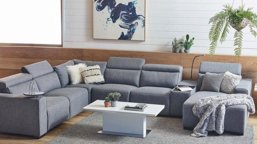 Benton Fabric Powered Recliner Modular Sofa With Chaise Harvey
