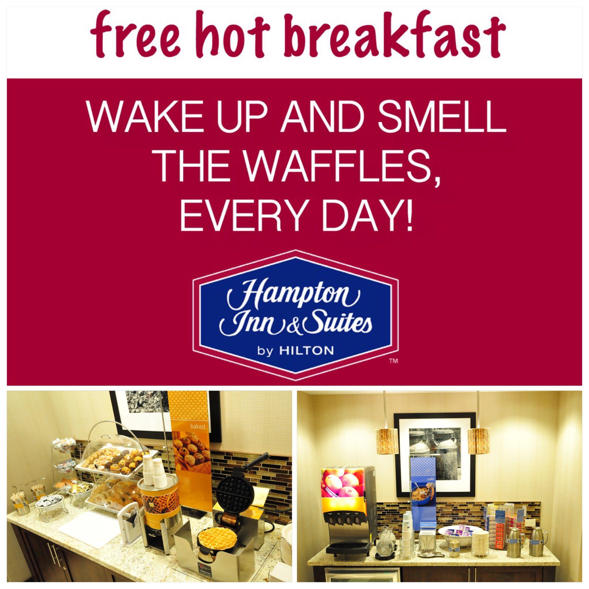 Enjoy A Complimentary Breakfast Every Morning At Hampton Inn