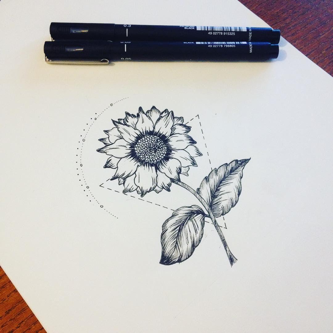 Pics Of My Favorite Geometric Tattoos Sunflower Tattoos Tattoos Tattoo Drawings