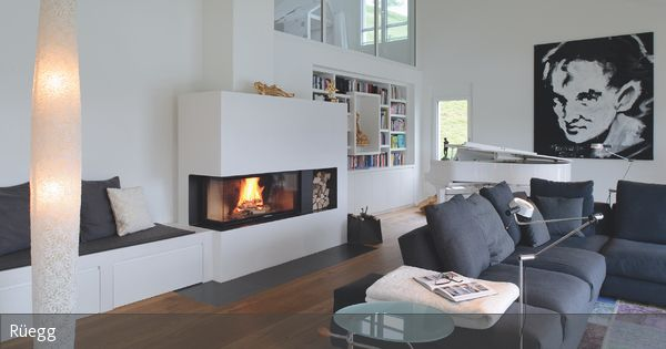 Kamin mit Sitzbank Living rooms, Interiors and Room
