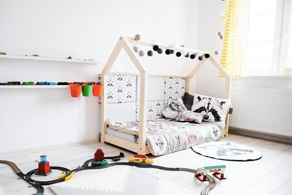 Kids Nursery Bed Wooden House Children Bed House Size 70 X 140