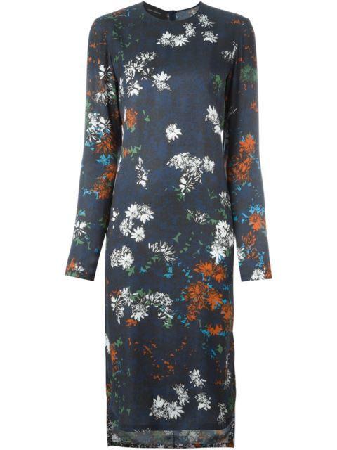 CEDRIC CHARLIER floral print dress. #cedriccharlier #cloth #dress